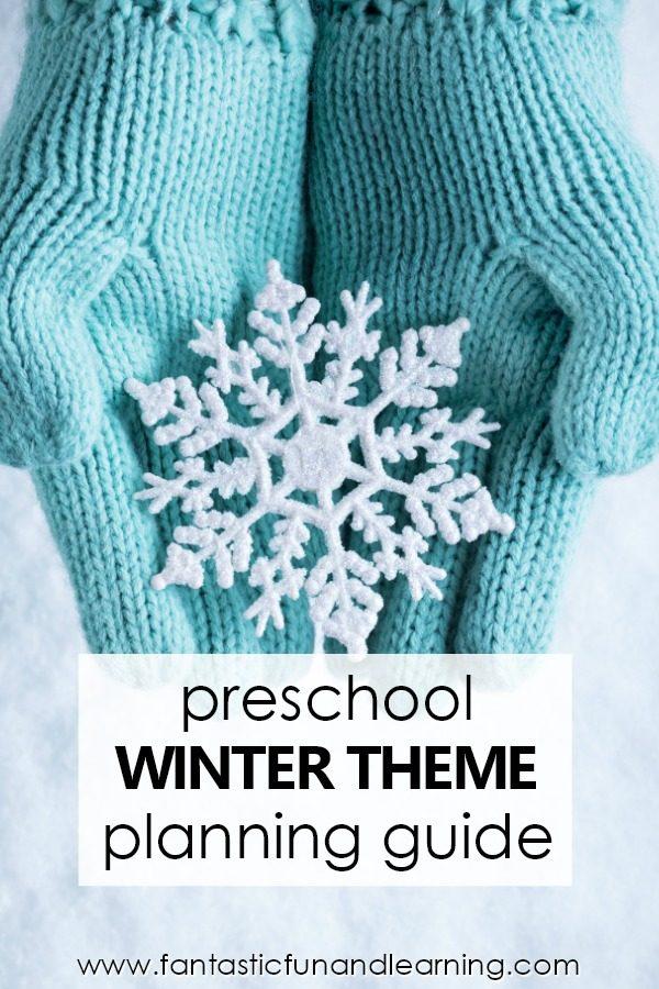 Preschool Winter Theme Lesson Planning Guide #preschool
