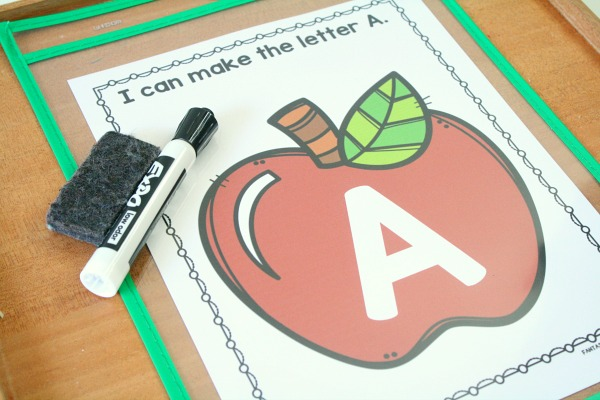 Writing Letters- Apple Theme Alphabet Activity