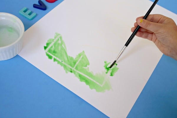 Prek name activities-hidden name art