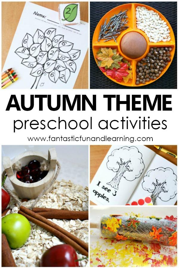 Autumn Theme Preschool Activities #preschool #autumn #fall