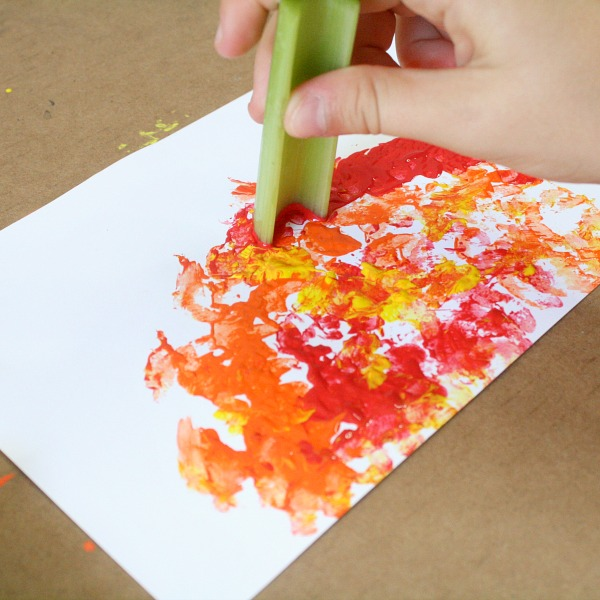 Celery Stamping Fall Art Project