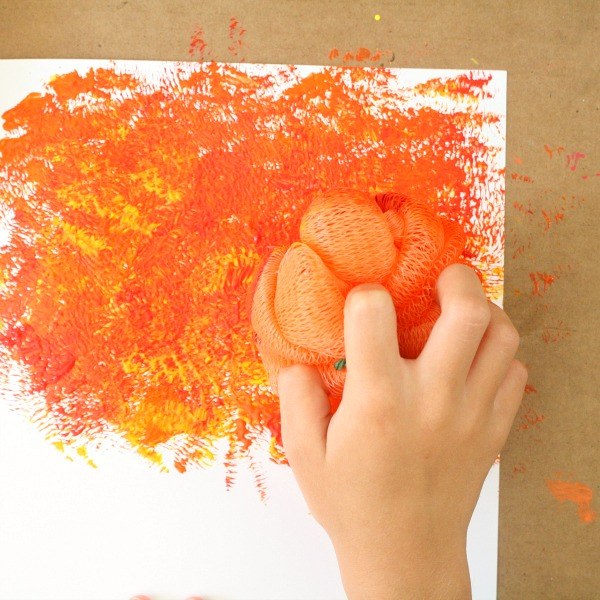 Color Mixing Fall Process Art Activity