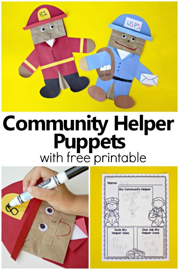 Community Helpers Art Projects For Pre K