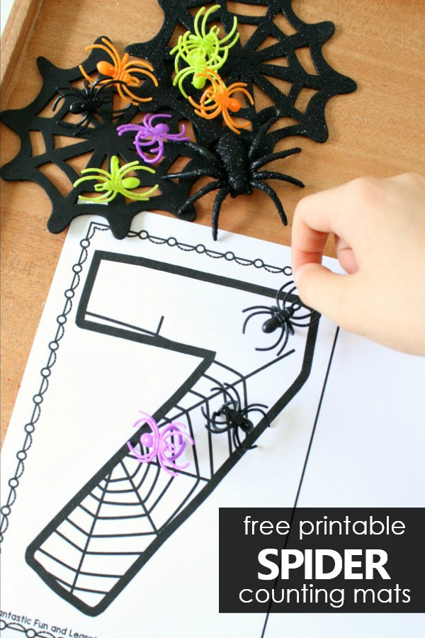 Counting Numbers Preschool and Kindergarten Halloween Printable #preschool #kindergarten #halloween