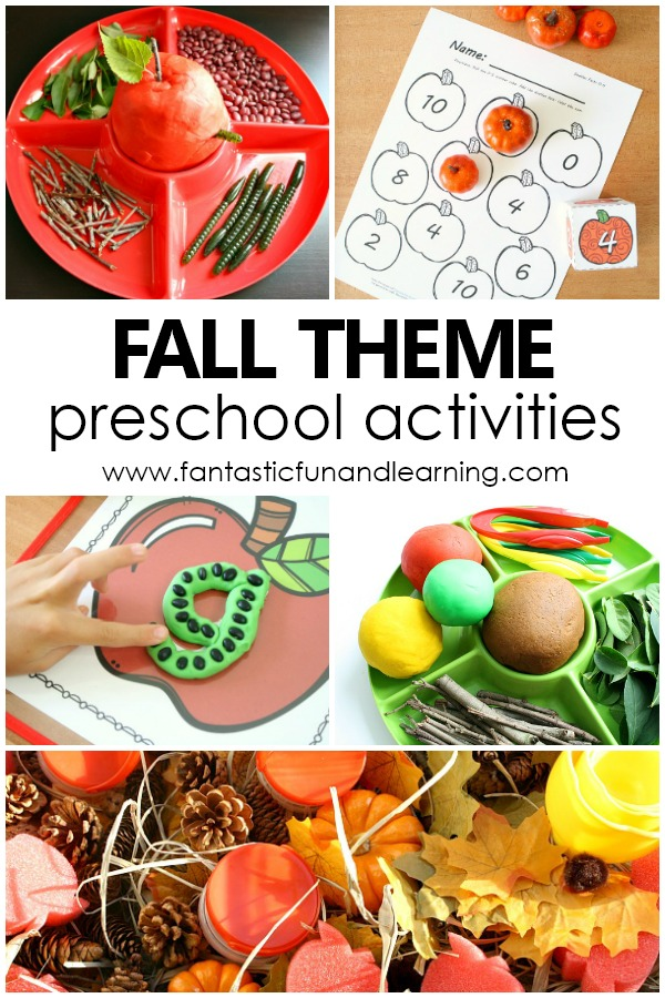 Fall Theme Preschool Activities #preschool #fall
