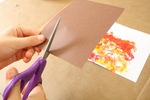 Fall Tree Craft for Kids-Cut the Trunk