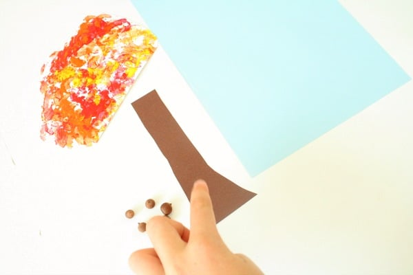 Materials for Fall Tree Craft