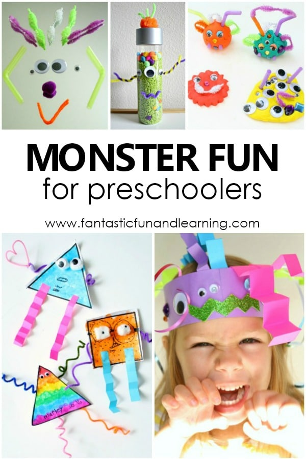 Monster Activities for Preschoolers and Kindergarteners #preschool #kindergarten #Halloween