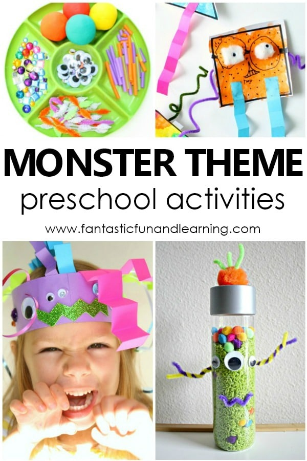 Monster Theme Preschool Activities and Lesson Plans #prek #lessonplans #monstertheme