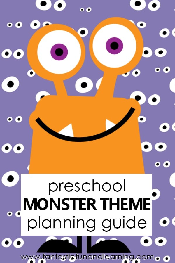 picture relating to Free Printable Preschool Lesson Plans called Monster Topic Preschool Actions - Great Enjoyable Understanding
