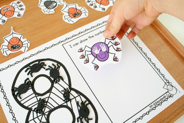 Spider Theme Counting Activity for Preschool and Kindergarten