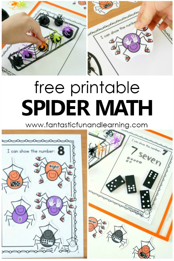 Spider Theme Counting Game Counting Numbers Printable Mats #preschool #kindergarten #numbers #numbersense