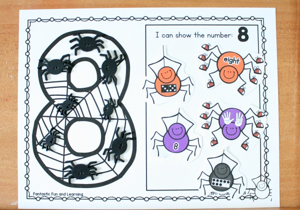Ways to Show Numbers-Preschool and Kindergarten Math Free Printable for Halloween