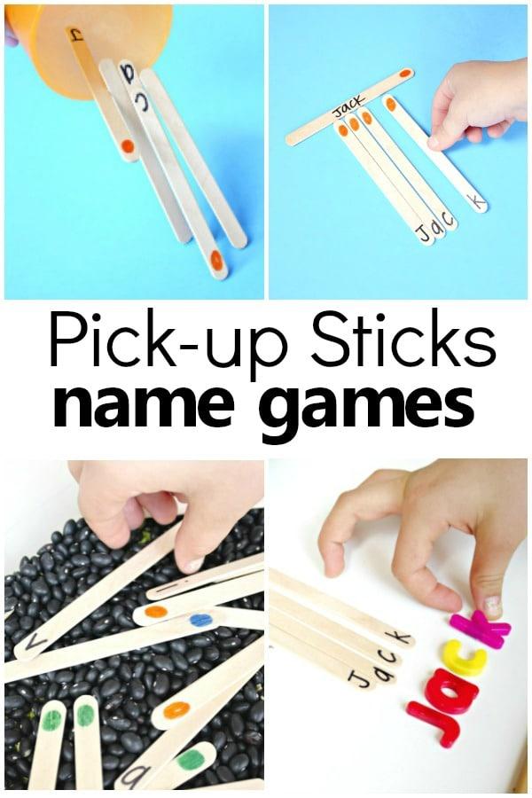 Quick Prep Name Games for PreK and Kindergarten #preschool #nameactivities
