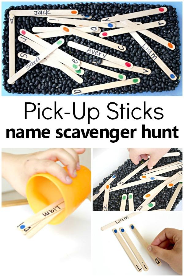 Name Scavenger Hunt Preschool Name Activity #preschool #alphabet