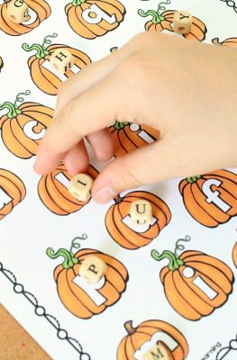 Pumpkin Letter Matching ABC Game