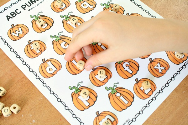 ABC Letter Game for Fall-Matching Pumpkin Letters