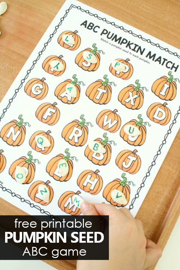 picture regarding Alphabet Matching Game Printable known as Pumpkin Letter Matching ABC Activity - Terrific Enjoyment Understanding