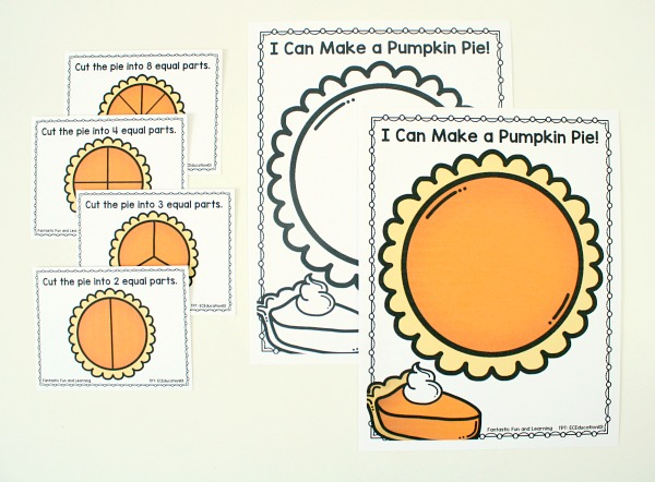 Free Pumpkin Pie Fraction Printable Contents