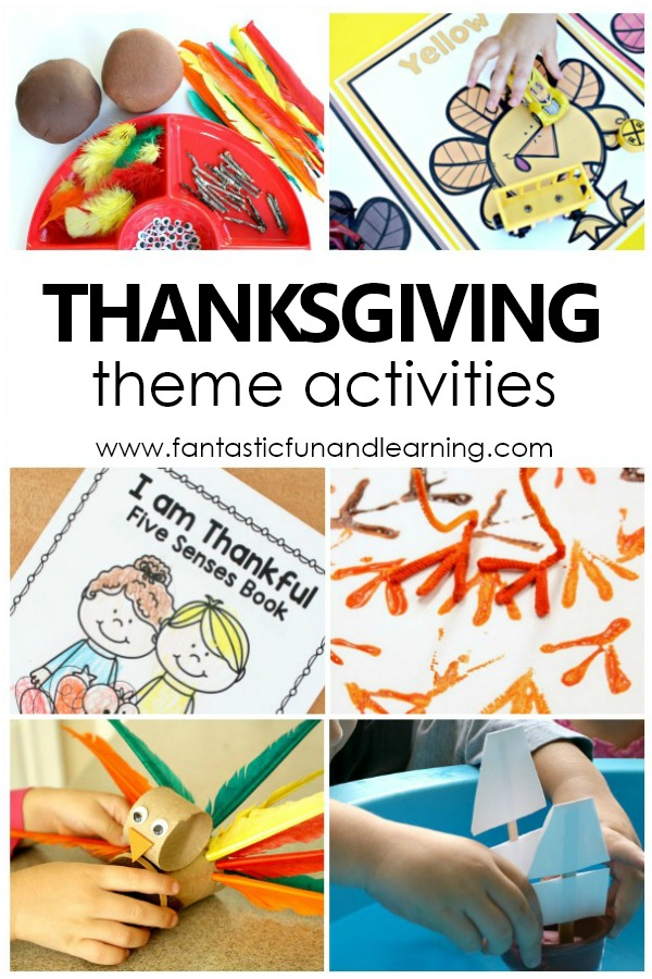 Fun Thanksgiving Theme Activities for Toddlers, Preschoolers and Kindergarteners #preschool #toddler #thanksgiving