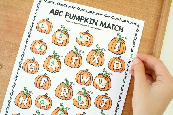 image regarding Alphabet Matching Game Printable titled Pumpkin Letter Matching ABC Video game - Outstanding Entertaining Finding out