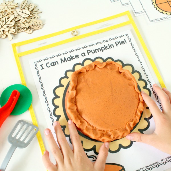 Play Dough Pumpkin Pie Free Printable
