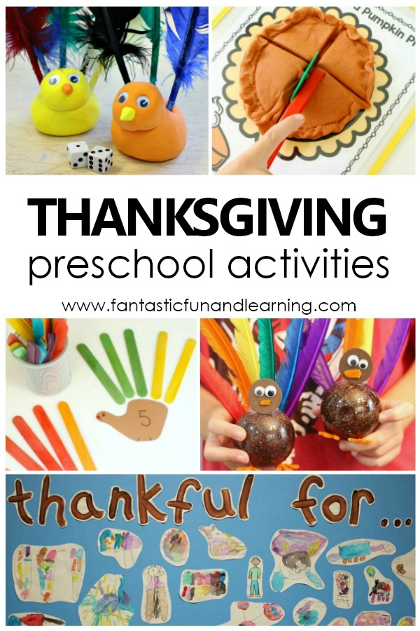 Preschool Thanksgiving Activities and Free Printables #thanksgiving #preschool
