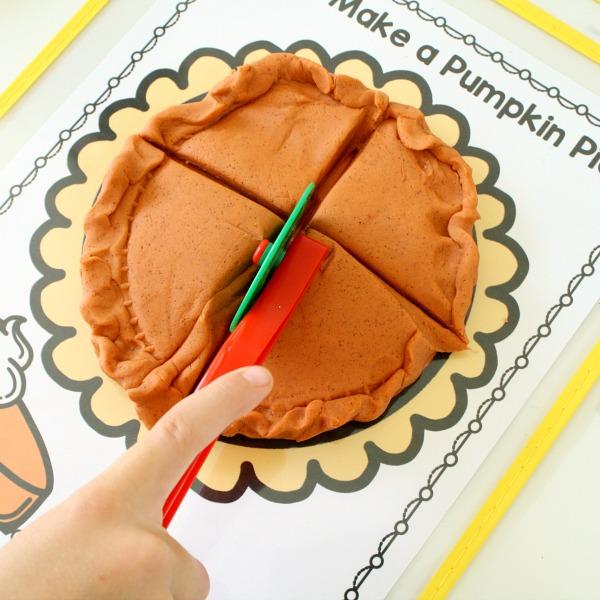 Pumpkin Pie Fractions Thanksgiving Math