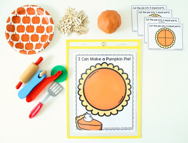 Pumpkin Pie Play Dough Invitation Pumpkin Pie Play Dough Fractions Free Printable