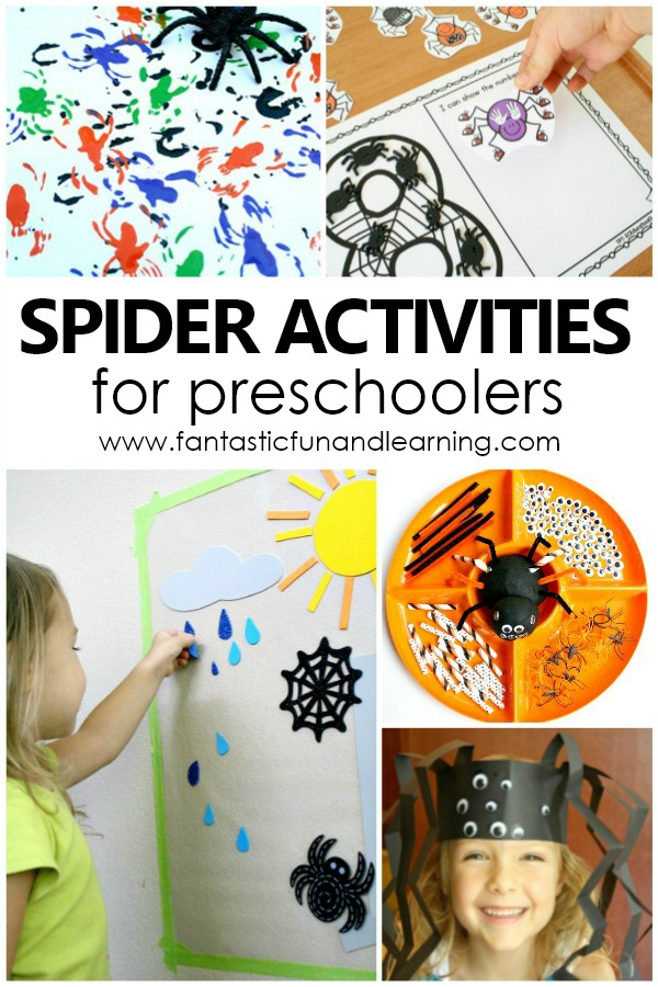 Spider Activities for Preschoolers #halloween #preschool #kids
