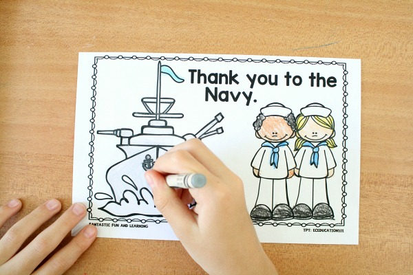 Thank You to the Military Coloring Book for Kids Veterans Day