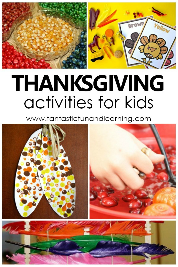 Thanksgiving Activities and Preschool Lesson Plans #kids #thanksgiving #preschool