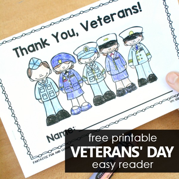 Thank You Veterans Military Easy Reader