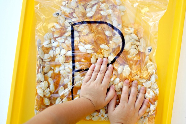 pumpkin sensory bag_squish1
