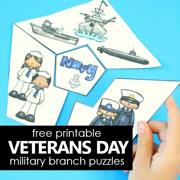 Free Printable Veterans Day Military Branches Puzzles