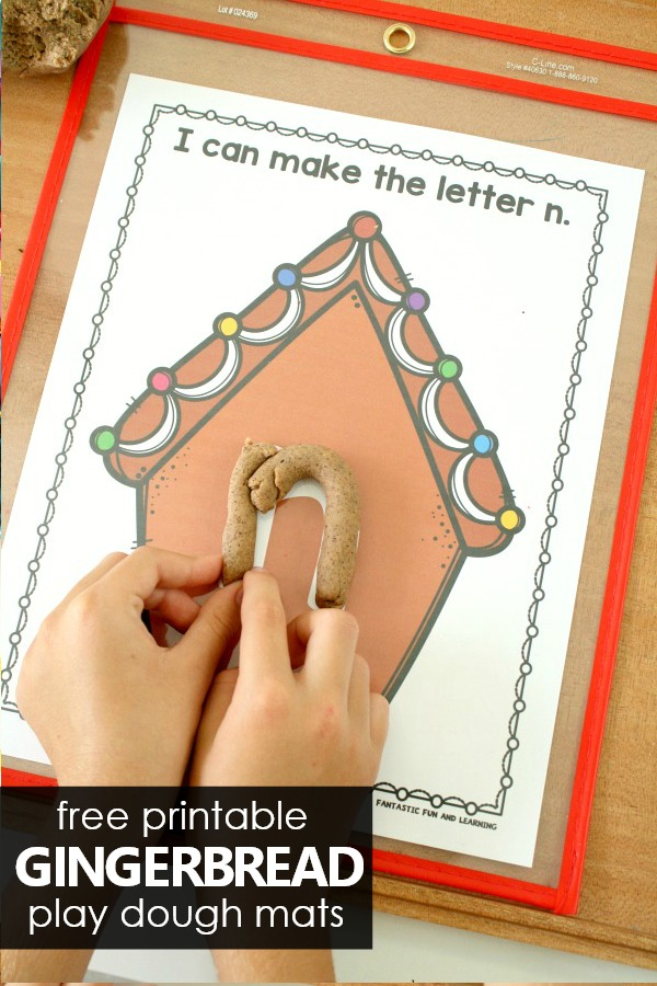 ABC Printables for Gingerbread Theme in Preschool and Kindergarten #preschool #kindergarten #playdough #sensory #freebie