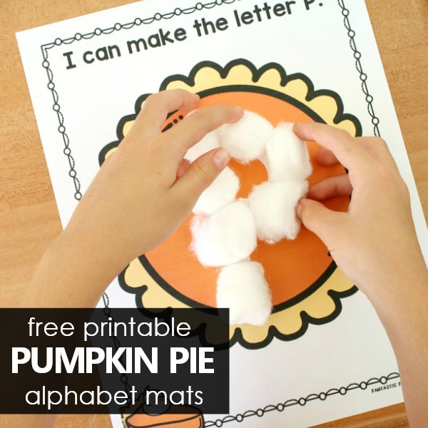 Free Printable Pumpkin Pie ABC Preschool Printables