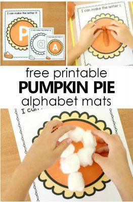 Pumpkin Pie Preschool Alphabet Printables