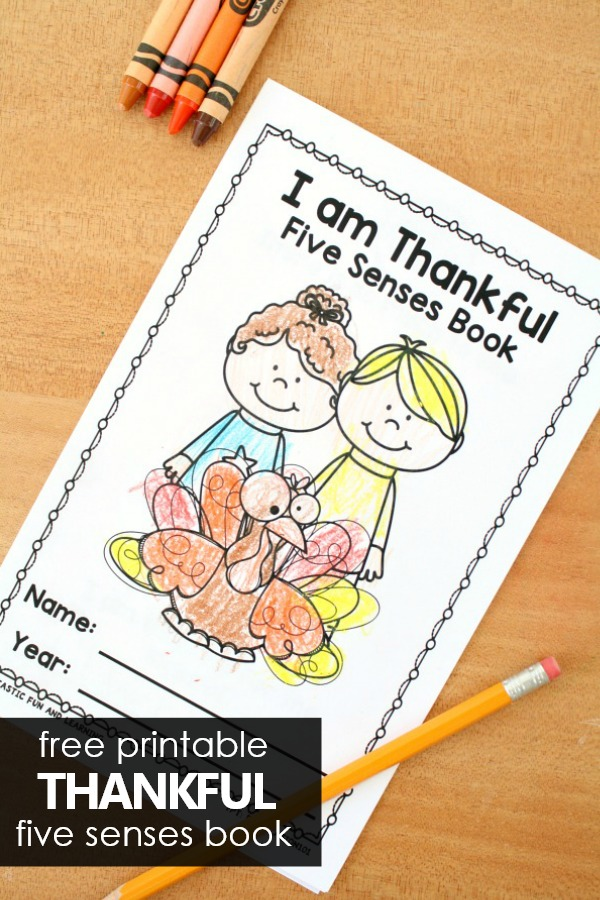 Free Printable Thankful 5 Senses Thanksgiving Activity for Preschool and Kindergarten #thanksgiving #preschool #kindergarten #freebie