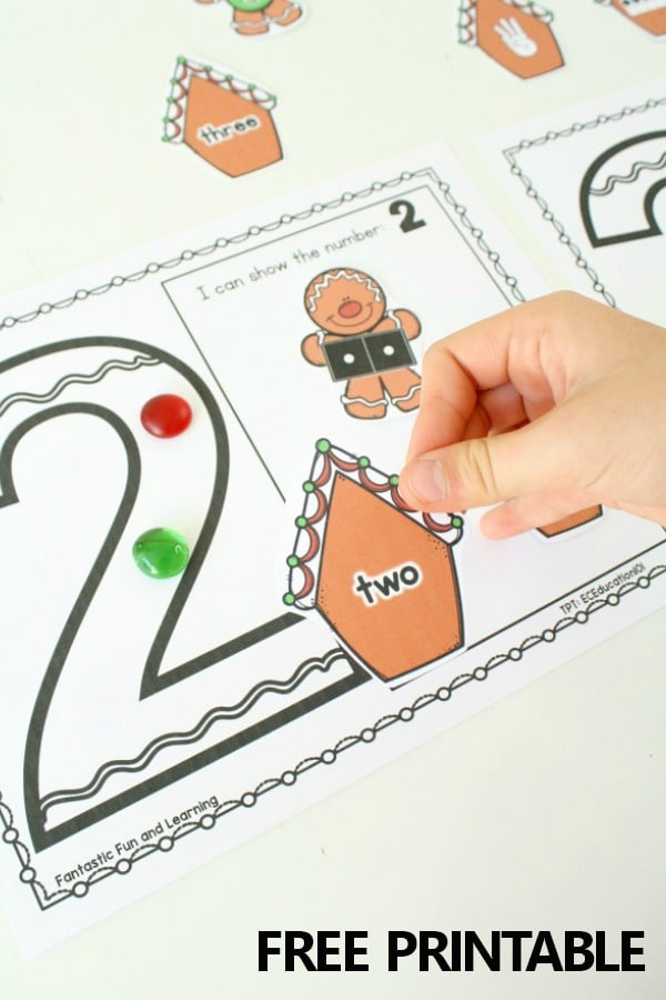 Free printable Gingerbread Activity Mats for Preschool