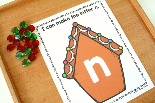 Gingerbread ABCs Preschool Alphabet Printables with Loose Parts