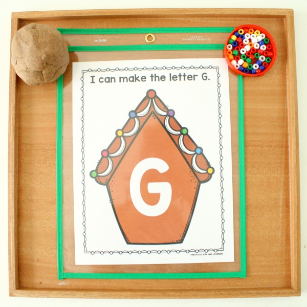 Gingerbread ABC Mats with Play Dough