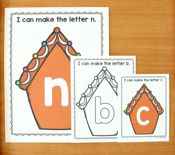 Gingerbread Alphabet Printables