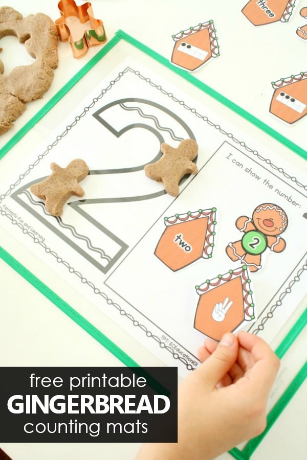 Gingerbread Counting Mats Preschool Math Activities for Christmas #christmas #preschool #kindergarten