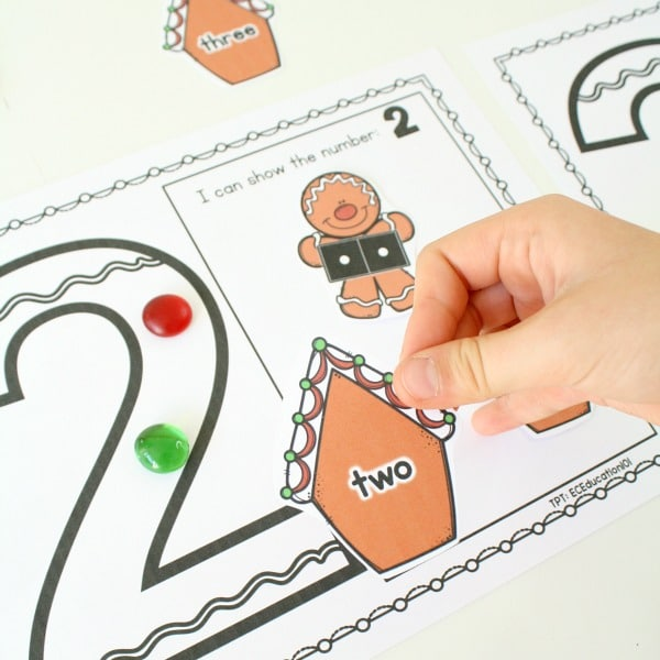 Gingerbread Man Story Activities for Preschool-Sorting Numbers