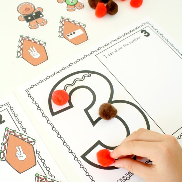 Gingerbread Math-Sounting Sets Free Printable