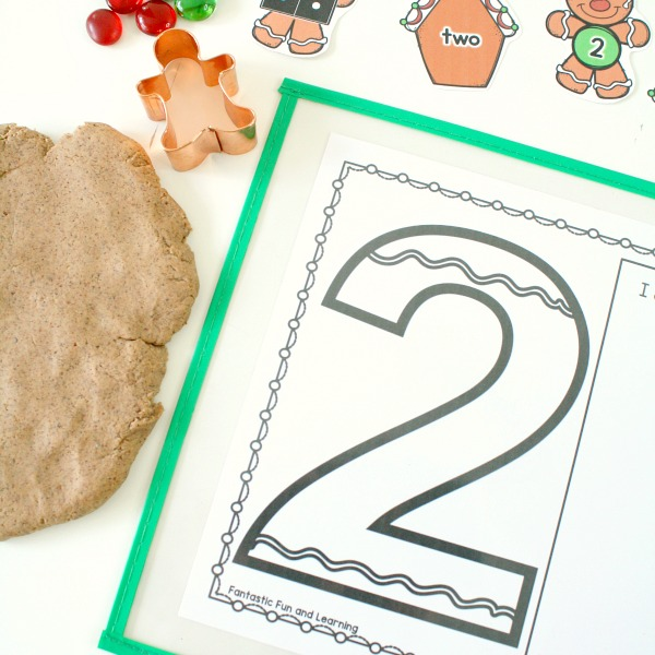 Gingerbread Play Dough Math Invitation and Free Printable