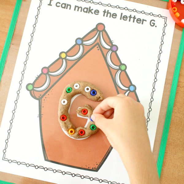 Gingerbread Play Dough Mats -square