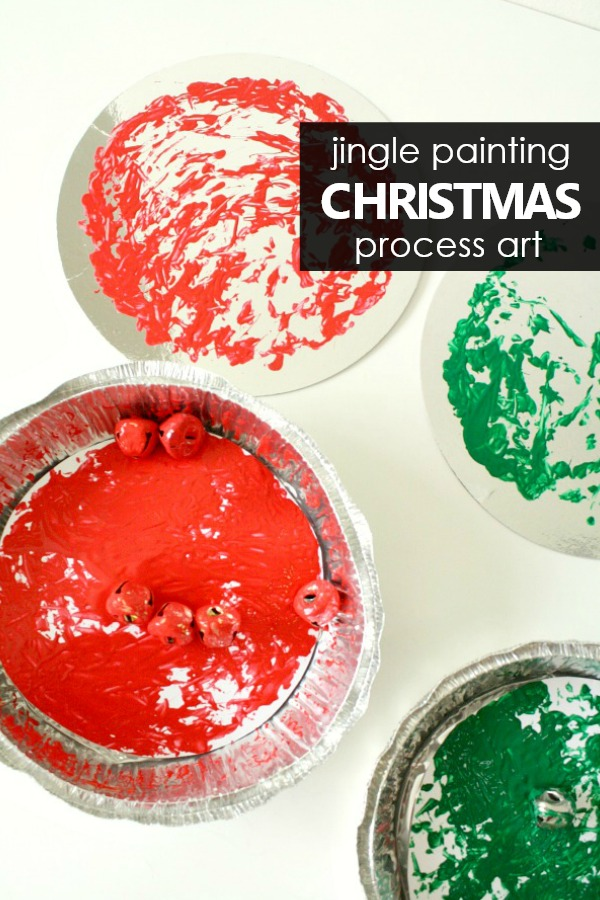 Jingle Bell Painting Christmas Process Art Project for Toddlers and Preschoolers #toddler #preschool #christmas #processart