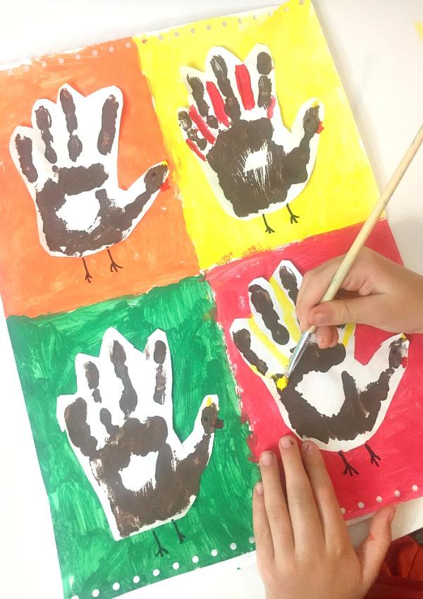 Kandinsky Art Thanksgiving Project Step 4